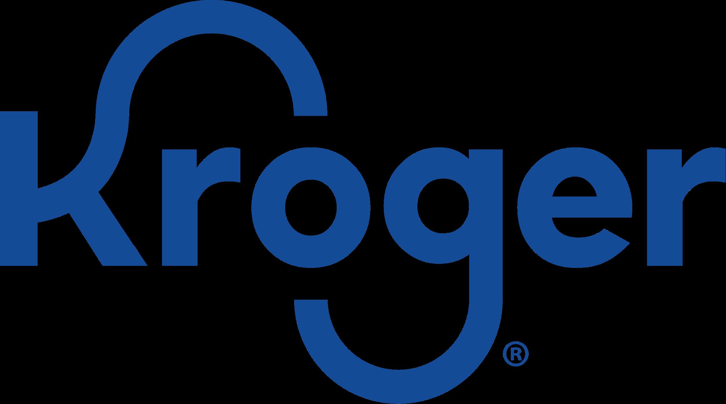 Kroger logo blue