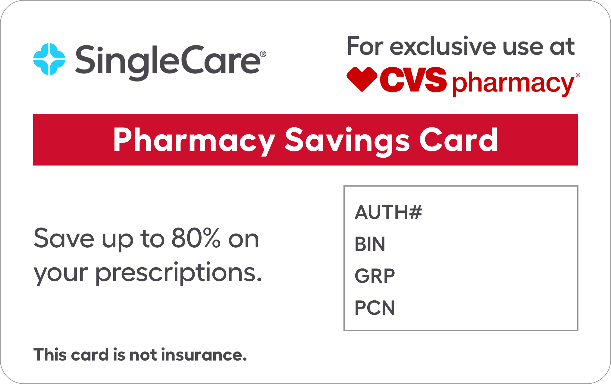 New cvs card