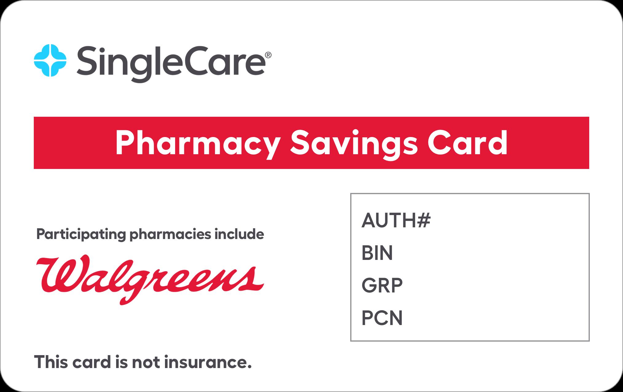 Singlecare walgreens card