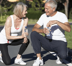 Seniors exercising for rheumatoid arthritis