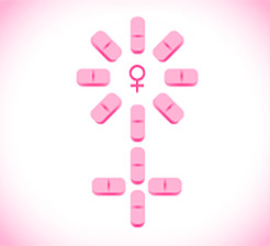 Addyi little pink pill concept