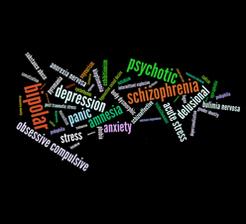 Schizophrenia bipolar disorder concept