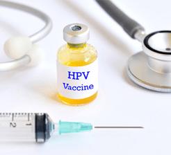 Hpv vaccine concept