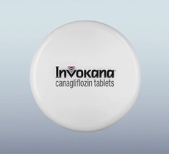 Invokana tablet and logo