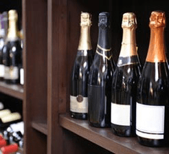 Champagne and wine in store