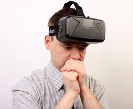 Man with vr sickness