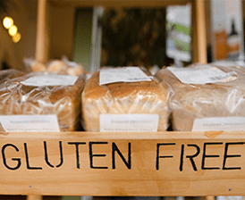 Gluten free bread shelf