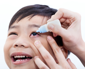 Treating pink eye in children
